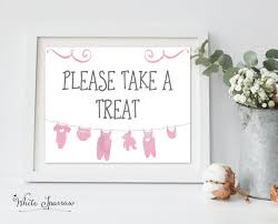 baby shower signs baby girl take a treat baby shower sign baby shower