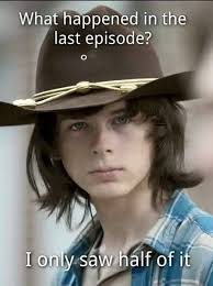 Carl Walking Dead Meme - the walking dead the best memes from the mid season premiere