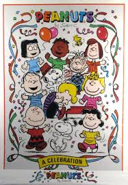 limited edition peanuts gang 45th anniversary proof card poster