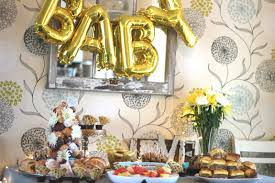 Baby Shower Table Setup by The Littlest Funk Blog Baby Shower Brunch On A Budget