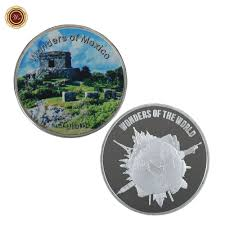 world of wonders home decor wr wonders of mexico tulum 999 9 24k silver plated coin home decor