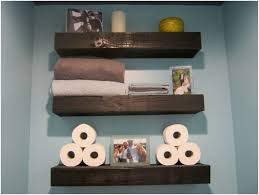 bathroom blue wall shelving painting storage ideas for bathroom