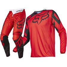 motocross gear set fox racing 2017 mx new 180 race red black jersey pants motocross