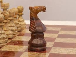 coral and red marble chess set with marble board 0 1278 426100