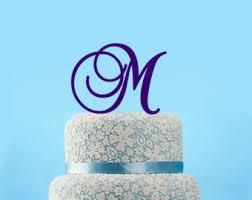 m cake topper letter m cake topper etsy