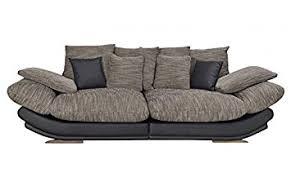 canapé nelson canapé fixe 3 places en tissu nelson noir gris anthracite