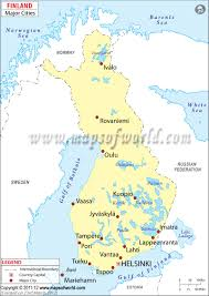 Map Of Spain With Cities by Cities In Finland Finland Cities Map