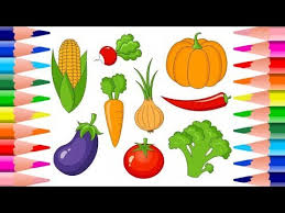 coloring pages fruits and vegetables draw and color coloring books