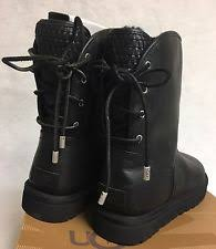 womens leather lace up boots australia ugg australia leather medium b m lace up boots for ebay
