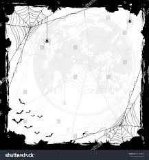 halloween abstract background halloween abstract background moon black spiders stock vector