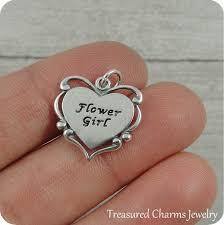 flower girl charm bracelet flower girl charm sterling silver flower girl charm for necklace