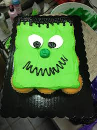 halloween cupcake ideas frankenstein halloween cupcake cake my cake decorating portfolio