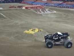 monster jam batman truck grave digger smashing through life