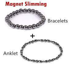 bracelet magnetic images 2 pc lot weight loss magnet bracelet anklet black stone magnetic jpg
