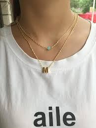 gold letter necklace pendants images Fashion charm gold letter m necklace pendant for women simple jpg