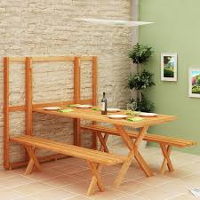 Folding Wood Picnic Table Wood Picnic Table For Backyard Home Furniture And Decor