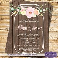 jar invitations jar bridal shower invitations templates best 25 jar