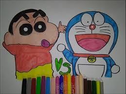 shin chan doraemon cartoon coloring pages kids doraemon