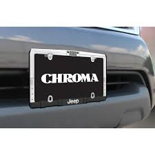 american flag jeep grill license plate frame chrome metal car truck suv jeep logo