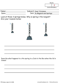 free unit 3e magnets and springs printable resource worksheets for