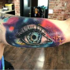 galaxy eye done by ivan at sd tattoo in san diego california