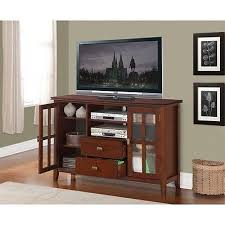 tv stand glass door tall tv stand entertainment center cabinet media console wood