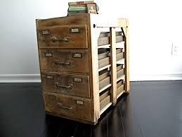 Storage Side Table by Vintage Wood Filing Cabinet Rustic Industrial Storage Side