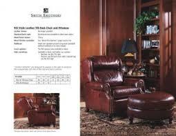 tilt back chair with ottoman 932 leather tilt back chair ottoman amish oak furniture