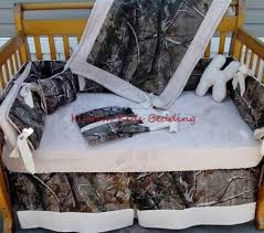 Beige Crib Bedding Set Real Tree Camouflage And Beige Bumperless Minky Dot Crib Bedding Set