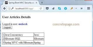 tutorial java spring hibernate boot mvc security custom login and logout thymeleaf csrf mysql