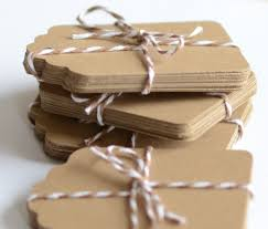 kraft paper tags 100 die cut tag gift tags labels brown