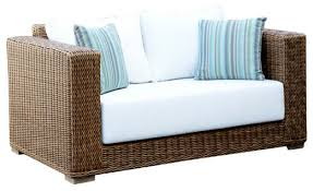 White Resin Wicker Loveseat Patio Love Seat U2013 Coredesign Interiors