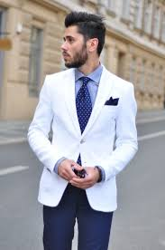 blue u0026 white suit jacket pocket square dots wedding