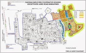 Islamabad Map Pechs Housing Society Islamabad New International Airport