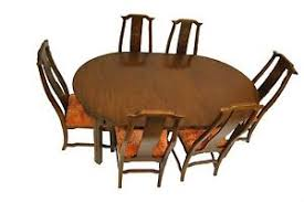 davis cabinet company dining room table asian influence walnut dining room table and chairs by davis cabinet