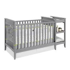 Baby Crib With Changing Table Crib Changing Table Grey 310996311