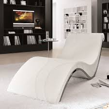 Contemporary Chaise Lounge White Contemporary Chaise Lounge Takes Center Stage With Stainless