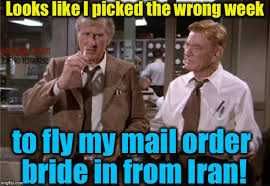 Mail Order Bride Meme - airplane wrong week imgflip