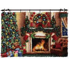 Latch Hook Rugs For Sale Herrschners Christmas Eve With Lights Rug Latch Hook