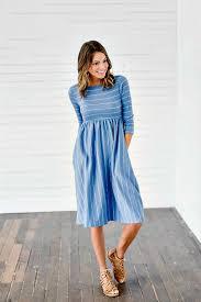 hadley light blue pin stripe dress bella ella boutique