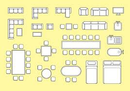 free floorplan free floorplan furniture vector download free vector art stock