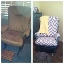 before and after dutailier rocking chair glider chevron baby