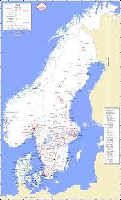 Train Map Italy by Maps Scandinavian Peninsulas Network
