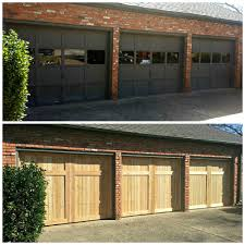 cedar garage doors cowtown garage door blog before and after cedar 9x7s
