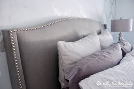 amazing modern dark gray color bed with upholstered headboards