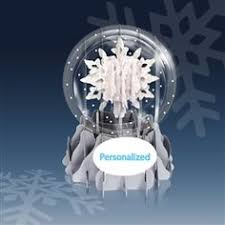 greeting card pop up 3 d snow globe snowfall by up with