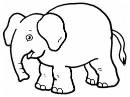 coloring page of an elephant coloring page for kids