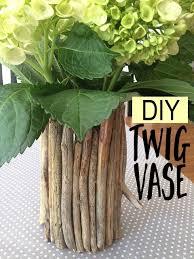 Vase With Twigs Diy Rustic Twig Vase