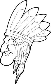 free printable native american coloring kids 2