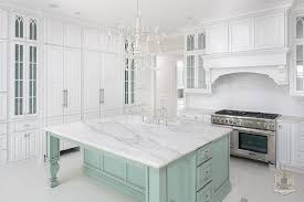 Transitional White Kitchen - adorable mint green kitchen and white kitchen with mint green